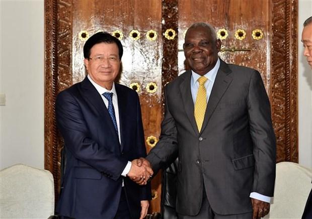 Le vice-PM Trinh Dinh Dung rencontre le PM tanzanien hinh anh 1