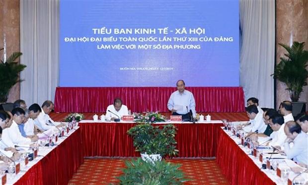 Preparation du 13e Congres national du Parti : reunion avec les localites du Centre et du Tay Nguyen hinh anh 1