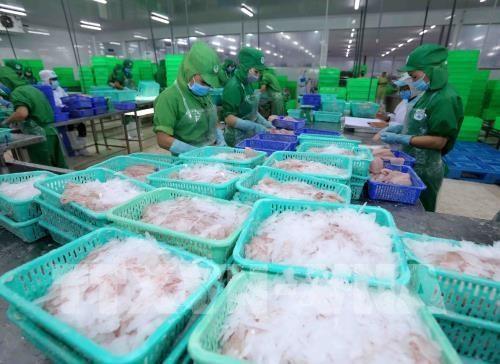Le Vietnam affiche un excedent commercial sur sept mois hinh anh 1