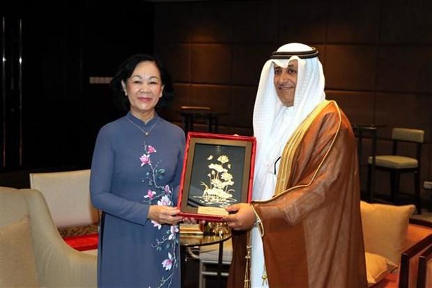 Une delegation du Parti en visite de travail au Qatar hinh anh 1