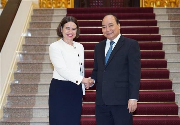 Le Premier ministre recoit l'ambassadrice d'Australie hinh anh 1