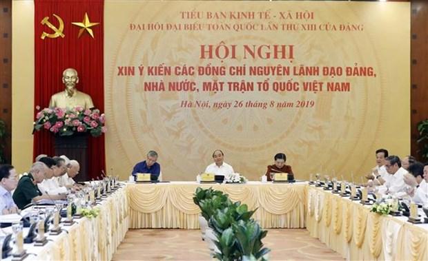 Pour le 13e Congres national du Parti : reunion pour demander les avis d'anciens dirigeants hinh anh 1
