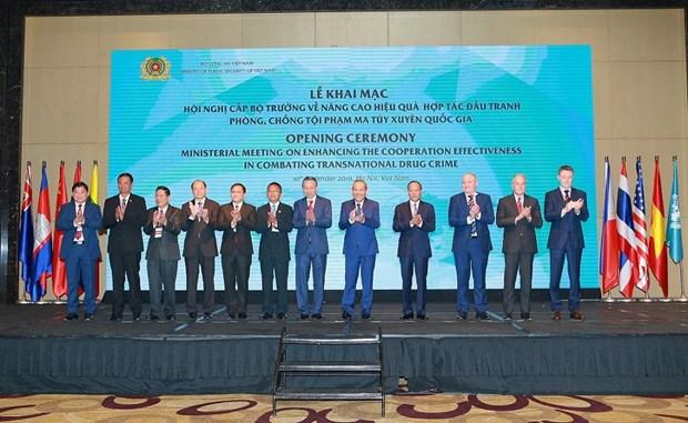 Conference ministerielle contre la drogue a Hanoi hinh anh 1