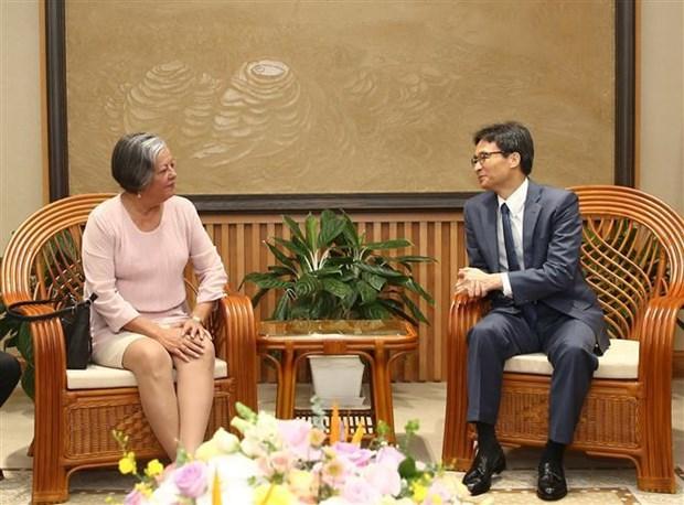 Le vice-PM Vu Duc Dam recoit la ministre cubaine du Travail et de la Securite sociale hinh anh 1