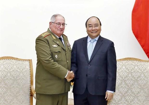 Le PM recoit un general de corps d'armee cubain hinh anh 1