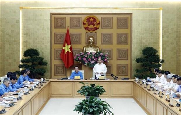 Le Premier ministre travaille avec le presidium de la CGTV hinh anh 1
