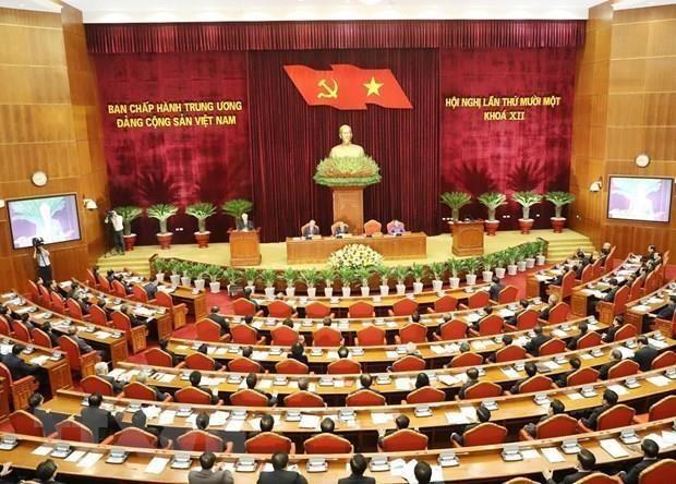 Quatrieme journee de travail du 11e Plenum du Comite central du Parti hinh anh 1