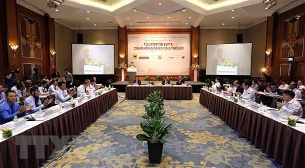 Les accords CPTPP et EVFTA au menu du 4e Forum national des agriculteurs hinh anh 1