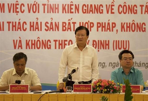 Peche INN : le vice-Premier ministre Trinh Dinh Dung travaille avec Kien Giang hinh anh 1