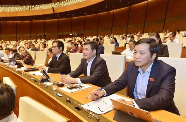 Les deputes discutent en groupes de trois projets de loi hinh anh 1