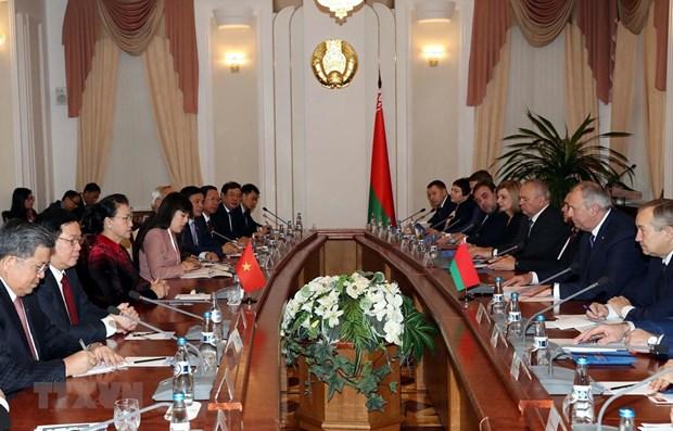 La presidente de l'AN termine sa tournee en Russie et en Bielorussie hinh anh 1