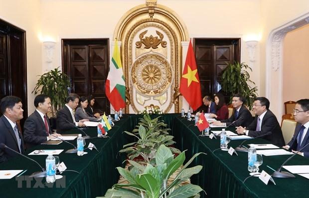 Renforcement de la cooperation integrale entre le Vietnam et le Myanmar hinh anh 1