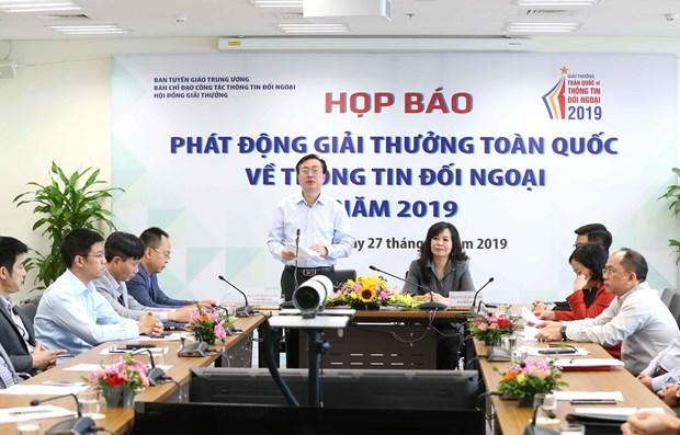 Communique de presse sur le Prix national de l'Information pour l'etranger 2019 hinh anh 1