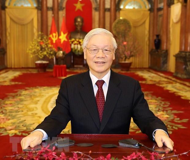 Vœux du Nouvel An lunaire du Rat 2020 du dirigeant Nguyen Phu Trong hinh anh 1