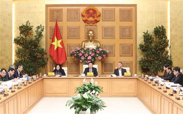 Le vice-PM Vuong Dinh Hue : chercher a favoriser le commerce dans le contexte de l'epidemie hinh anh 1