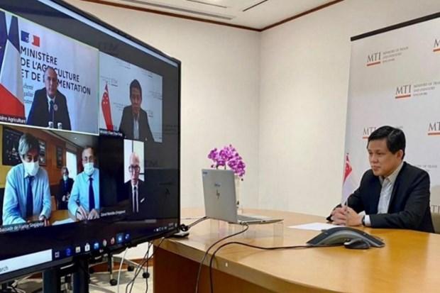 France-Singapour : declaration conjointe pour developper les echanges agroalimentaires hinh anh 1