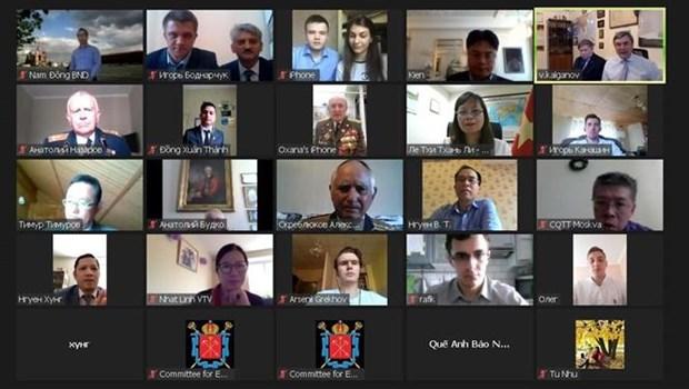 Reunion virtuelle en l'honneur de grands anniversaires de la Russie et du Vietnam hinh anh 1