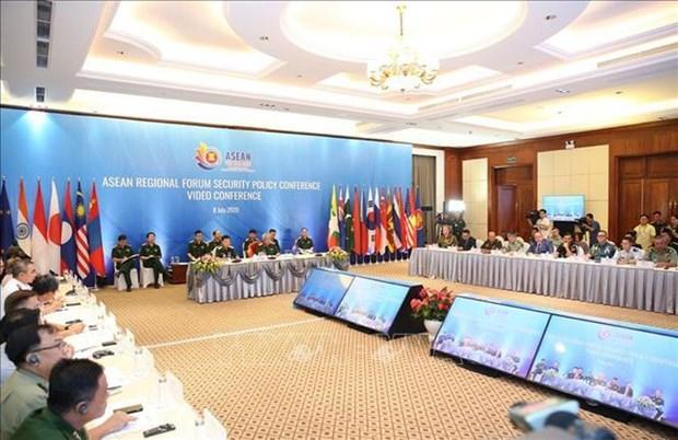 La visioconference sur les politiques de securite de l'ARF hinh anh 1