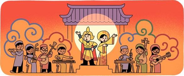 Le « cai luong » a l'honneur sur Google Doodle hinh anh 1