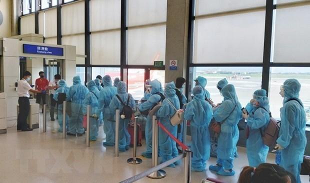 COVID-19 : 350 Vietnamiens rapatries du Royaume-Uni hinh anh 1