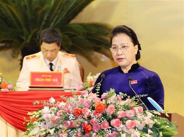 La presidente de l'AN presente au Congres de l'organisation du Parti de Thanh Hoa hinh anh 1