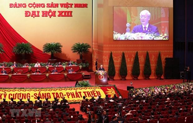Ouverture du 13e Congres du Parti : Accelerer le Renouveau, le developpement rapide et durable  hinh anh 1