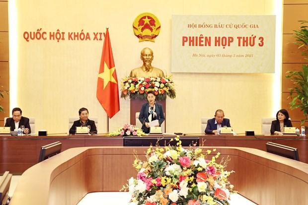 La presidente de l'AN preside la 3e reunion du Conseil electoral national hinh anh 1