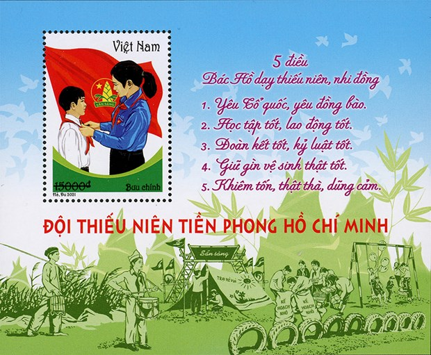 Emission d'une collection de timbres sur les jeunes pionniers de Ho Chi Minh hinh anh 2