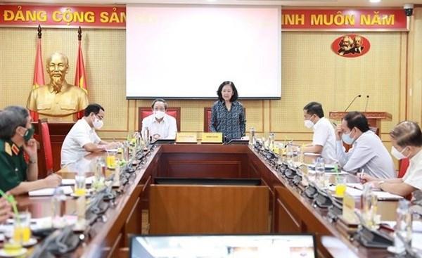 Elaboration d'un projet sur l'edification des organisations de base du Parti et les membres du Parti hinh anh 1