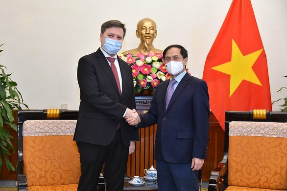 Le ministre des Affaires etrangeres recoit l'ambassadeur de Pologne hinh anh 1