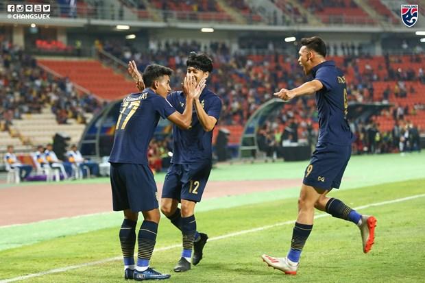 Championnat U23 de l'Asie 2020 : La Thailande en tete du groupe A hinh anh 1