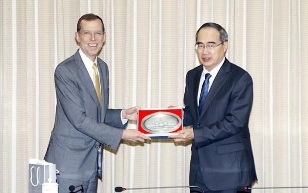 Ho Chi Minh-Ville renforce sa cooperation avec les Etats-Unis en matiere d'education hinh anh 1