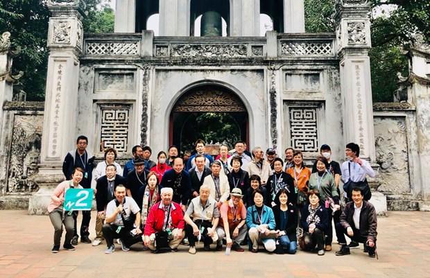 Hanoi : cinq delegations de touristes japonais visitent la capitale vietnamienne hinh anh 1