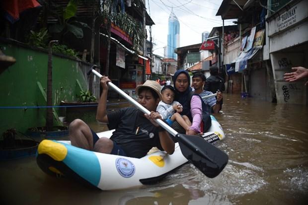 Indonesie : Des inondations a Jakarta font au moins cinq morts et trois disparus hinh anh 1