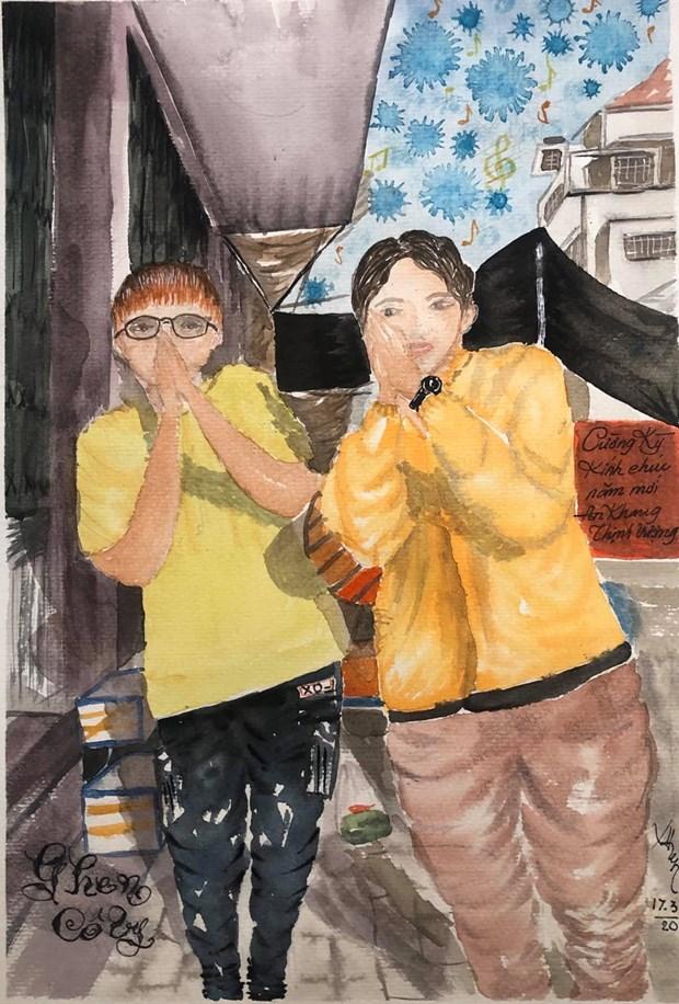 COVID-19 : les dessinateurs d'Urban Sketchers rejoignent la lutte hinh anh 5