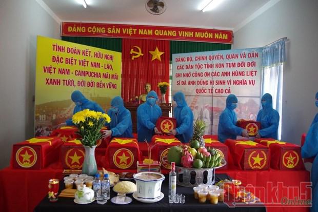 Kon Tum: 21 restes de soldats volontaires vietnamiens tombes au Laos et au Cambodge retrouvees hinh anh 1