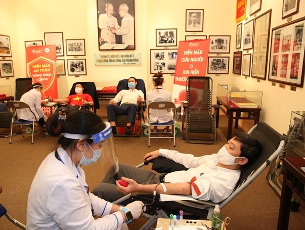Le Comite central du Front de la Patrie appelle les gens a donner du sang hinh anh 1