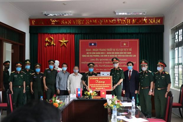COVID-19 : Remise de materiels medicaux a des provinces du Nord du Laos hinh anh 1