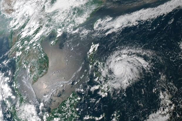 Le typhon Vongfong frappe les Philippines au milieu de l'epidemie de COVID-19 hinh anh 1