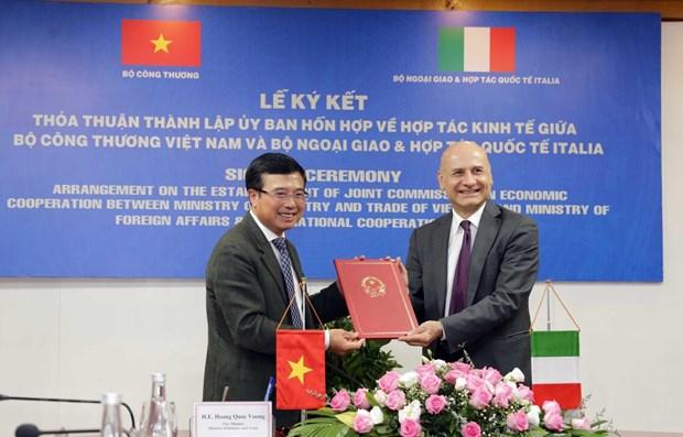 Creation d'une Commission mixte de cooperation economique Vietnam-Italie hinh anh 1