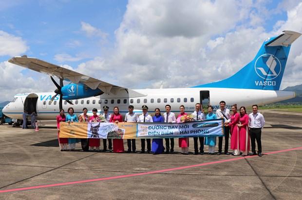 Ouverture de la nouvelle ligne aerienne Dien Bien - Hai Phong hinh anh 1