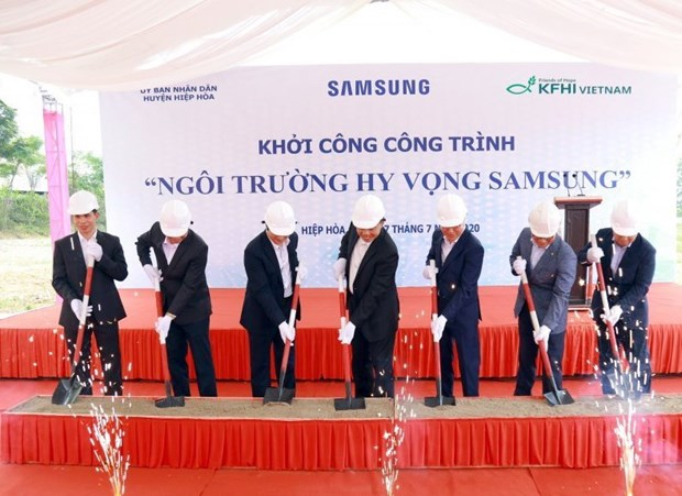 Samsung Hope School au profit des eleves demunis de Bac Giang hinh anh 1