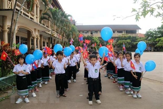 Cloture de l'annee scolaire 2019-2020 de l'ecole bilingue laotien-vietnamien Nguyen Du hinh anh 1