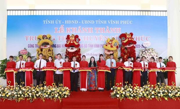 Vinh Phuc : Inauguration d'un lycee d'excellence de 20 millions d'USD hinh anh 1