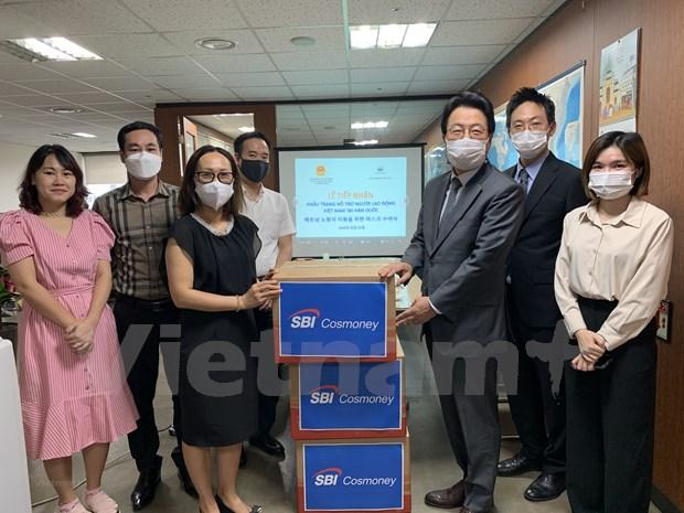 Une entreprise sud-coreenne offre 10.000 masques medicaux a des travailleurs vietnamiens hinh anh 1