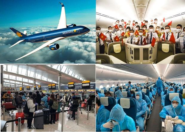 COVID-19 : plus de 350 citoyens vietnamiens rapatries des Etats-Unis et du Japon hinh anh 1