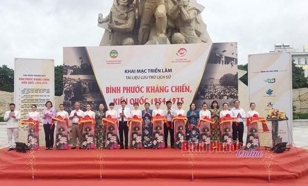Binh Phuoc : Exposition de documents sur la guerre de resistance et la construction nationale hinh anh 1