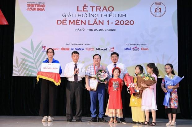 Le Prix De men 2020 recompense des œuvres d'art pour enfants hinh anh 1