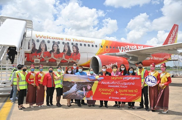 Thai Vietjet inaugure la liaison Bangkok - Ubon Ratchathani hinh anh 1