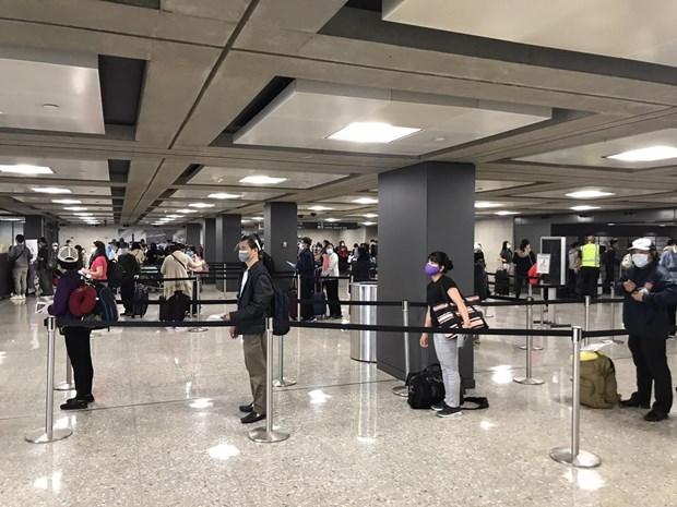 COVID-19 : plus de 340 citoyens vietnamiens rapatries des Etats-Unis hinh anh 1